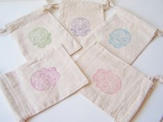10 Mexican Folk Art Wedding Favor Gift Bags Party by WitsEndDesign, $17.00