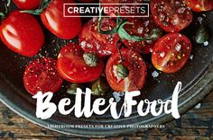 "10 Food & Life Style Lightroom Presets for Photographers ""BetterFood"""