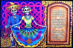 skeleton couple mini altar de muertos -top