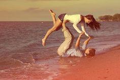 #beach #happy couple