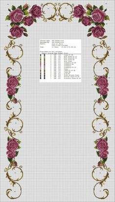 This post was discovered by mo Wedding Cross Stitch Patterns, Funny Cross Stitch Patterns, Cross Stitch Borders, Cross Stitch Rose, Cross Stitch Flowers, Modern Cross Stitch, Cross Stitch Designs, Cross Stitching, Ribbon Embroidery