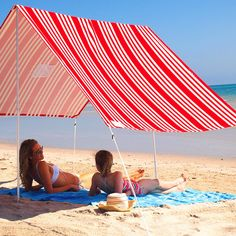 Beach Umbrella - Red Stripe | Scenario Home