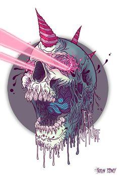 Geniales posters con cráneos... pasa o moriré.... - Taringa!