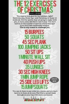 12 Exercises of Christmas