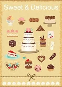 Vector Clip Art Of Cake Illustration A On White Background