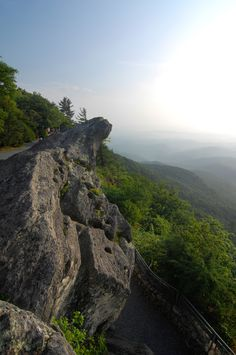 The legend of the Blowing Rock is that a Cherokee brave leapt from the rock into the wilderness below, only to have a gust of wind return him back to his lover on top of the rock. - The most amazing views here!  You don't have to hike to it and they have a great overlook deck too.