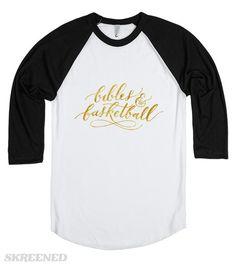 B&B Logo Gold Baseball Raglan Tee #Skreened