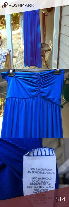 Royal blue Maternity maxi NWOT. Never worn! Pic included shown for styling purposes (same dress but different color). Very comfy and flattering Beachcoco Dresses Maxi