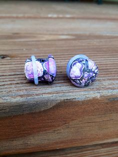 Hey, I found this really awesome Etsy listing at https://www.etsy.com/listing/194503876/single-flair-purple-agate-plugs-8g-6g-4g