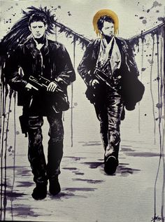 End!verse Dean and Cas by kitty-ink tumblr #spn