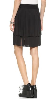 DKNY Miniskirt with Fringe