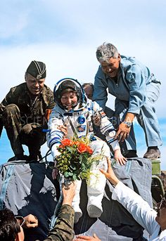 Landing of astronaut Helen Sharman, 1991