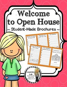 "Student-created Open House brochures.  Perfect for ""Open House"" or ""Back to School"" night."