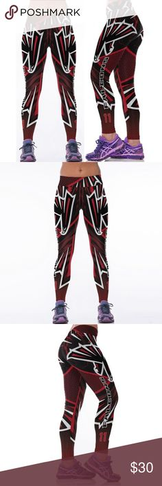 NFL Atlanta Falcons Football Printed Fitness Yoga Fashion 3D Sublimation NFL Atlanta Falcons Football Printed Fitness Yoga Gym Team Sports Leggings Pants Leggings