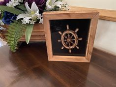 Up date your nautical decor for your home with this laser cut ships wheel shadow box3DWoodsandAcrylics#nauticaldecorideas #giftfordad #woodwallhangings Wall Hanger, Hangers, Den Decor, Home Decor, Boating Gifts, Rustic Home Interiors, Wood Detail, Perfect Gift For Mom, Rustic Farmhouse Decor
