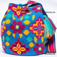 One of A Kind Wayuu Mochila Bag - Single Woven Thread, Quick Ship Anywhere, and International!  $249.00 #wayuubags www.wayuutribe.com
