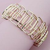 Advance your wire working skills with this stunning geometric cuff design. One continuous length of wire is formed into this bracelet you'll have to see to believe. Put your skills to the test, and turn heads with the final project design. Wire Jewelry, Jewelry Bracelets, Bangles, Jewellery, Friendship Rings, Holiday Jewelry, Wire Weaving, Promise Rings, Jewelry Design