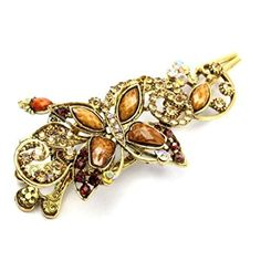 TOOGOO(R)Brown Lovely Vintage Jewelry Crystal Butterfly Hairpins Hair Stick For Hair Clip Beauty Tools ** Click image for more details. (This is an affiliate link and I receive a commission for the sales) Vintage Rhinestone, Crystal Rhinestone, Top Perfumes, Butterfly Hair, Crown Headband, Discount Beauty, Hair Sticks, Hair Barrettes, How To Make Hair