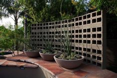 betonblock garten 40 Creative Cinder Block Garden Design Ideas to Beautify Your Yard Cinder Block Walls, Cinder Block Garden, Cinder Blocks, Paver Blocks, Concrete Blocks, Concrete Walls, Ibiza, Landscape Design, Garden Design