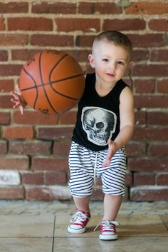 Toddler Striped Harem Shorts