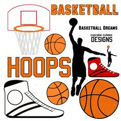 Basketball Dreams Digital Clip Art Set - Great for creating invitations, scrapbooking, printables, newsletters and more.
