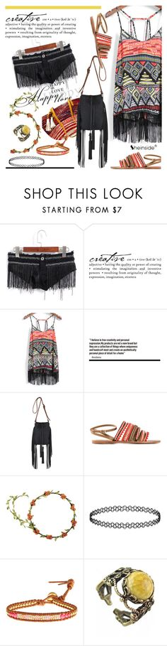 """my boho"" by paculi ❤ liked on Polyvore featuring Yardena Silva, Tory Burch, Topshop, Chan Luu, Retrò and Sheinside"