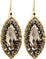 panacea marquisedrop crystal earrings bronze