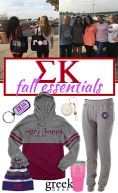 Greek Gear is the place to shop for fall Sigma Kappa apparel and gifts. Check out our sweatshirts, PJs, hats, scarves, accessories, and more!