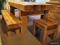 Rustic Oak Beam Dining Table
