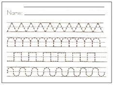 pre writing printables // Imprimibles de trazo