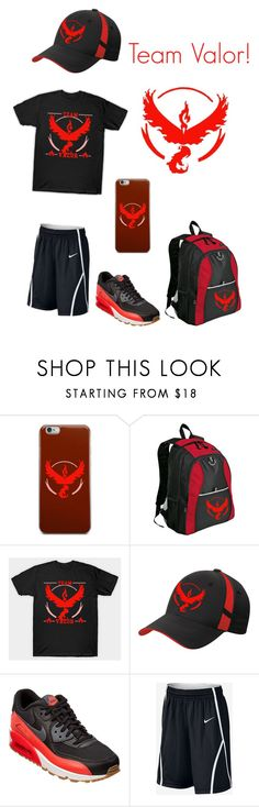 """Go Team Valor!"" by oreo-galaxy ❤ liked on Polyvore featuring interior, interiors, interior design, home, home decor, interior decorating, Valor and NIKE"