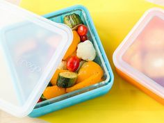 These glass food storage containers, discovered by The Grommet, can easily go from your oven to your fridge or lunchbox.