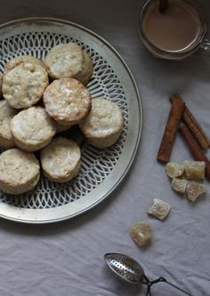 Wit & Aroma Chai spiced and crystallized ginger scones