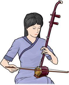 erhu / bowed string instrument (China / Asia)