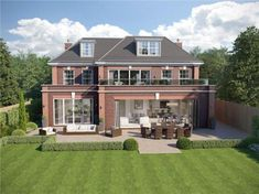 6 bedroom detached house for sale in Coombe Ridings, Kingston upon Thames, - Rightmove. House Plans Uk, 6 Bedroom House Plans, Dream House Plans, Big Beautiful Houses, Beautiful Homes, Home Building Design, Building A House, House Extension Design, House Design