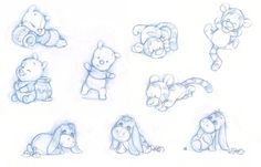 Baby Pooh, Tigger and Eeyore by ShaneMadeArt
