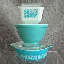 Pyrex 3 Piece Turquoise Assortment