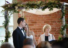 Chuppah draped with vines found on Modern Jewish Wedding Blog // Photographer Whitmeyer Photography