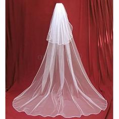 3M 2Tiers Ivory White Bridal Wedding Long Veil Cathedral Satin Edge With Comb
