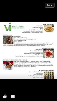 More great VI recipes. www.meredithmarder.myvi.net