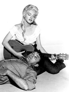 Marilyn Monroe & Robert Mitchum in a promotional photo for River of No Return, 1953.