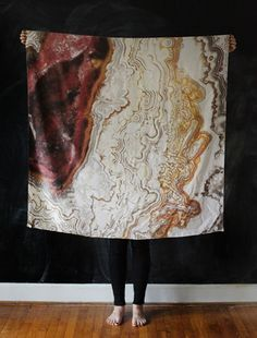I want to hang this on my wall. Agate Silk Scarf from Cisthene, Jen Altman