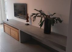 View the photo of with the title Beautiful concrete look TV furniture and other ins . - View the photo of with the title Beautiful concrete look TV furniture and other inspiring p - Furniture, Home Living Room, Home, Happy New Home, Interior Furniture, House Interior, Tv Furniture, Home Deco, Home And Living