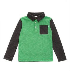 Fore Axel and Hudson Green Melange Stripe Polo offered in size 18-24 month -6 for young man.