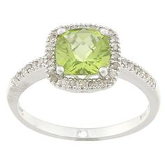@Overstock.com - Peridot and diamond ring14-karat white gold jewelry click here for ring sizing guidehttp://www.overstock.com/Jewelry-Watches/14k-White-Gold-Peridot-and-1-5ct-TDW-Diamond-Ring-J-K-I2/5836004/product.html?CID=214117 $244.99