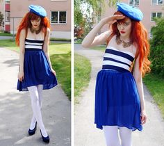 Ahoy <3 This sailor ensemble is so cute and the collar really pops <3