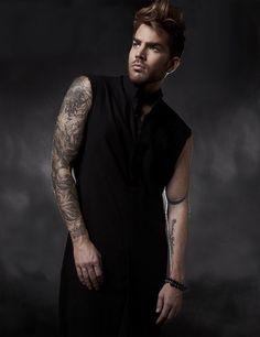 Adam Lambert photo used for cover of Glamoholic Magazine - November 2015