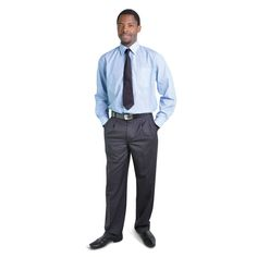 Executive Trousers BRAND: OAKHURST Has top quality durable poly viscose fabric and double back pockets Corporate Outfits, Viscose Fabric, Trousers, Pockets, Clothing, Model, Tops, Pants, Outfit