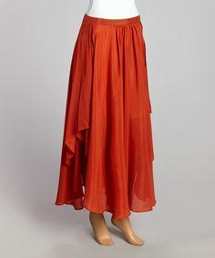 Look at this #zulilyfind! Clay Sunset Maxi Skirt - Women by Tasha Polizzi #zulilyfinds