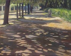 Borghese Shadows Rome Italy Oil Painting  Fine by DruMarieRobert, $150.00